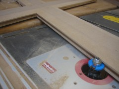 Cutting a slot for the cherry ply panels