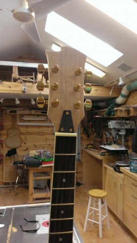 Completed headstock