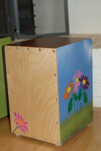 Emma painted flowers on the side