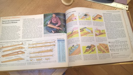The 2-page spread on how to build a mountain dulcimer