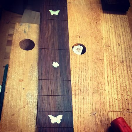 Butterflies and flowers inlay