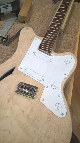 Verifying the pickguard drawing