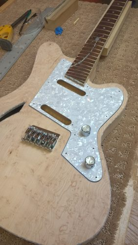Test fit of the finished pick guard
